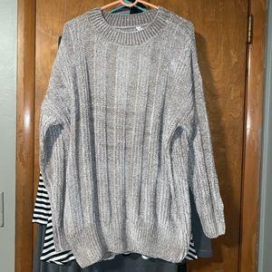 Large Grey Chenille Sweater Tunic